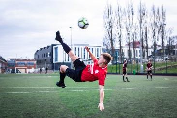 Overhead kick mens football