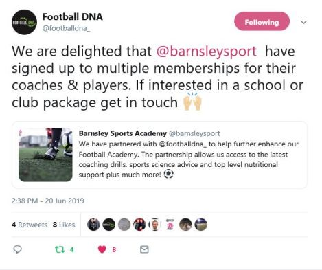 Football DNA - Tweet